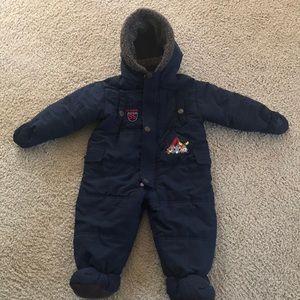 Baby boys winter snow suit/pram